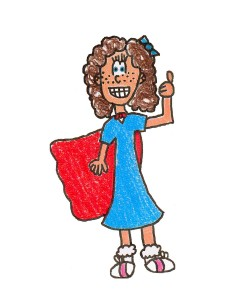 Darling cartoon character Scarlett Jones wants to teach children how to Baffle That Bully!