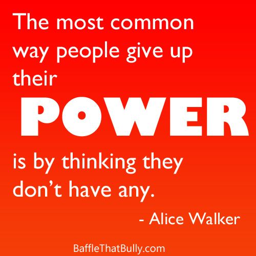 Red to orange gradient background with empowering quote: The most common way people give up their power is by thinking they don't have any