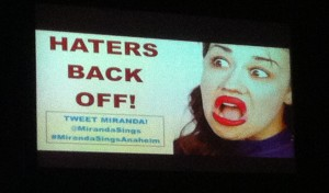Photo of Miranda Sings with her favorite saying: Haters back off!